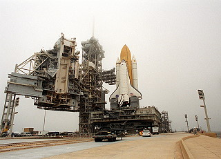 STS-102 rollout