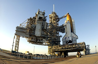 STS-107 on launch pad