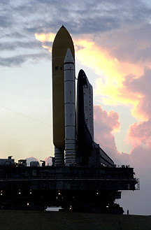 STS-113 rollout