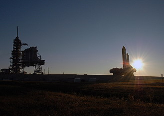 STS-116 rollout