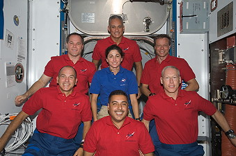 traditional in-flight photo STS-128