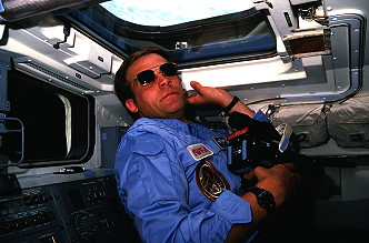 Lee onboard Space Shuttle