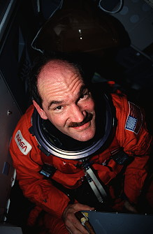 Gardner onboard Space Shuttle