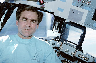 Veach onboard Space Shuttle