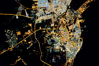 Dammam / Saudi Arabia at night