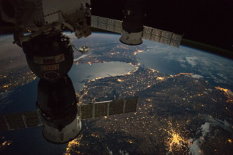 Strait of Gibraltar by night