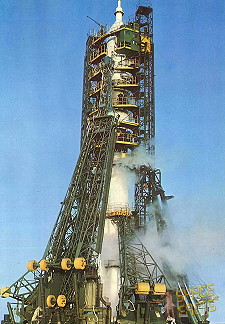 Soyuz 28 on the launch pad