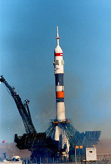 Soyuz TM-13 launch