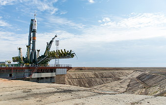 Soyuz TMA-17M on the launch pad