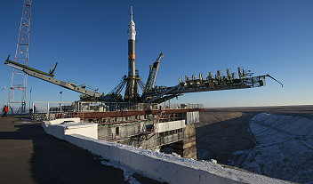 Soyuz TMA-19M on the launch pad