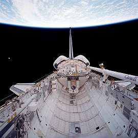 STS-80 in orbit